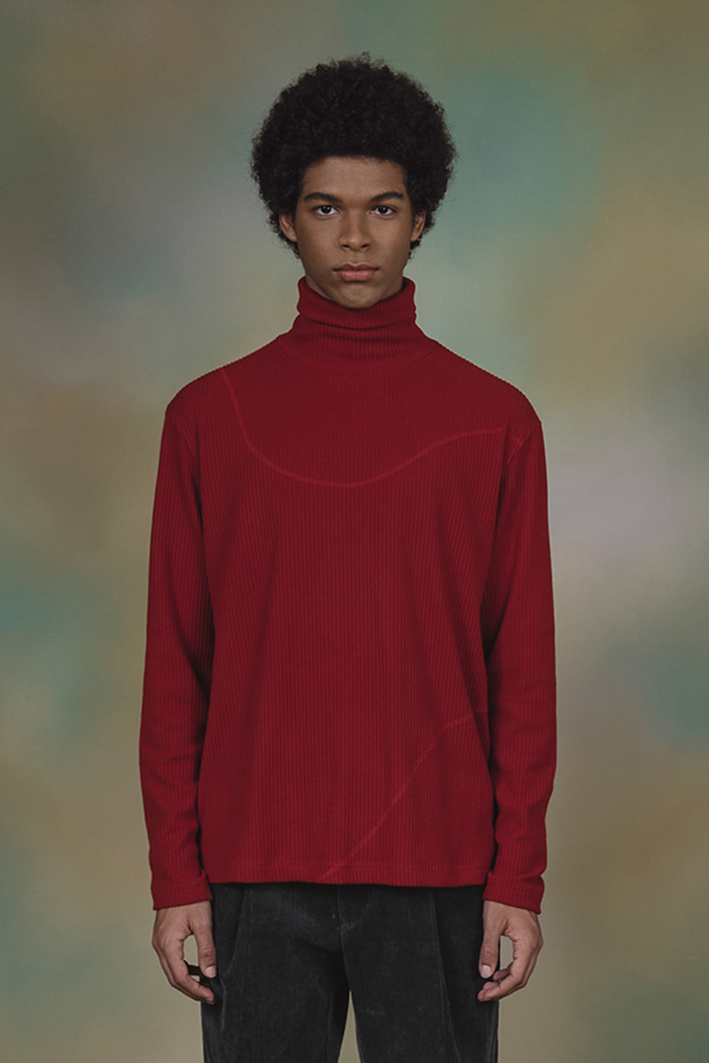 TURTLE NECK T-SHIRT (RED)