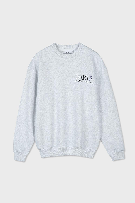 PARIS PRINTED SWEATSHIRT (MELANGE WHITE)