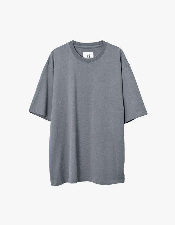 Brown Yard Essential S/S Tee - Blue Grey | HEIGHTS. | 하이츠 온라인 스토어