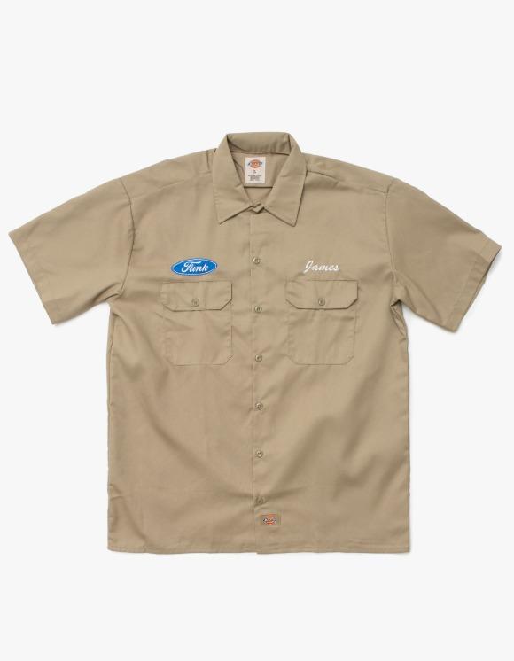 SOUNDS GOOD Funk Work shirt - Khaki   HEIGHTS.   하이츠 온라인 스토어