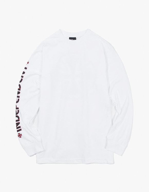 Independent Bar Cross L/S Shirt - White | HEIGHTS. | 하이츠 온라인 스토어