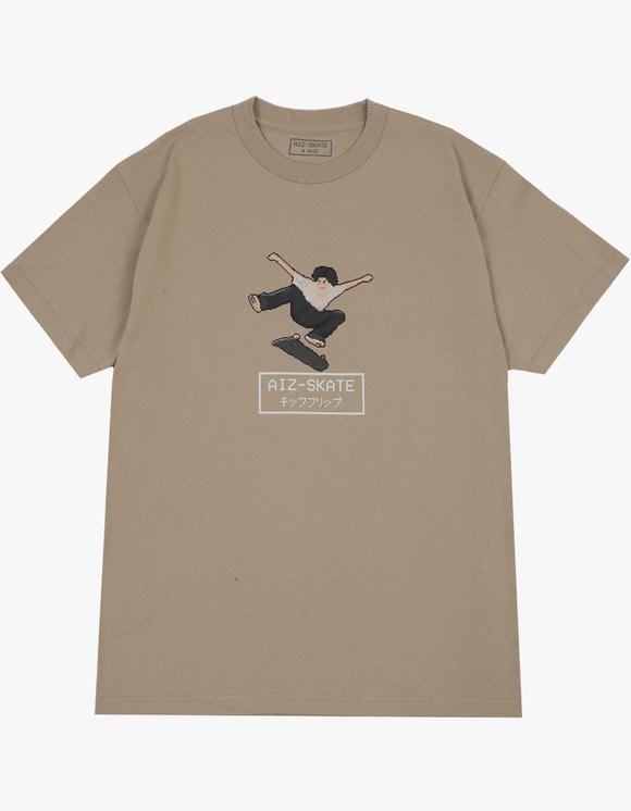 AIZ Skate Kickflip S/S Tee - Sand | HEIGHTS. | International Store
