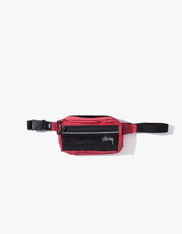 Stussy Ripstop Nylon Waist Bag - Red   HEIGHTS.   하이츠 온라인 스토어