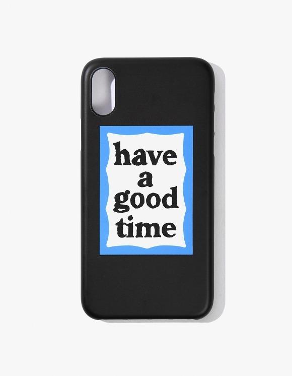 have a good time Blue Frame iPhone Case X - Black | HEIGHTS. | 하이츠 온라인 스토어