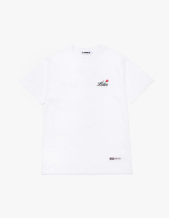 LORES Rose S/S T-Shirt - White   HEIGHTS.   하이츠 온라인 스토어