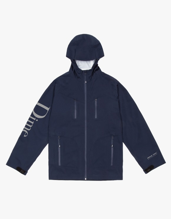 Dime Classic Logo Shell Jacket - Navy   HEIGHTS.   International Store