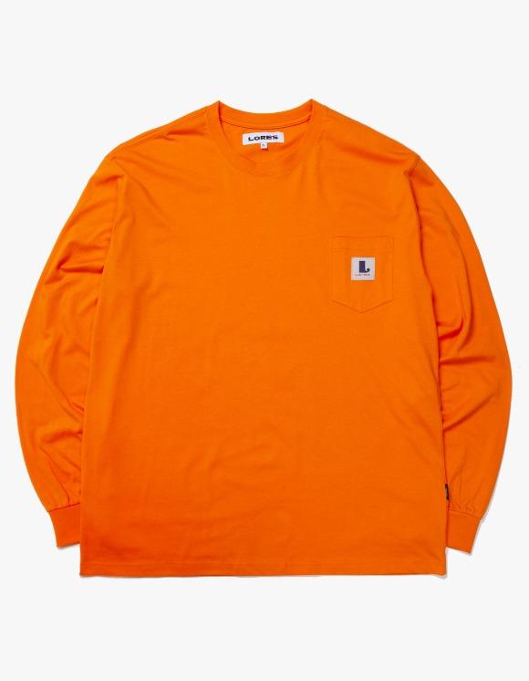 LORES Pocket L/S T-shirts - Orange | HEIGHTS. | International Store