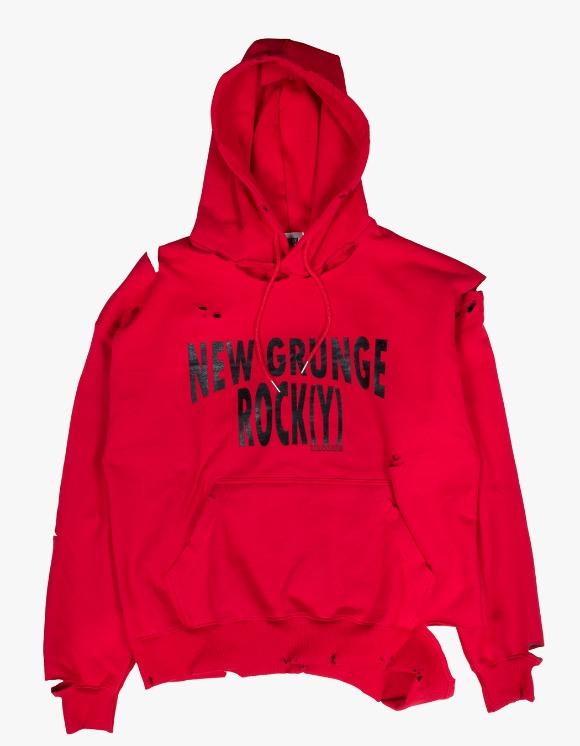JOEGUSH NEW GRUNGE ROCK(Y) Hoodie Lv.2 - Red | HEIGHTS. | 하이츠 온라인 스토어