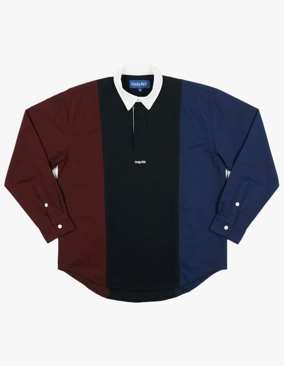 Only NY Tri Color Popover Shirt - Navy | HEIGHTS. | 하이츠 온라인 스토어