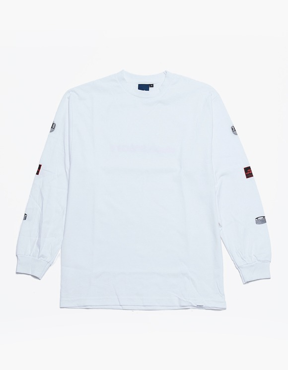 360Sounds Interbreed X 360Sounds X Disk Union Players L/S Tee - White | HEIGHTS. | 하이츠 온라인 스토어