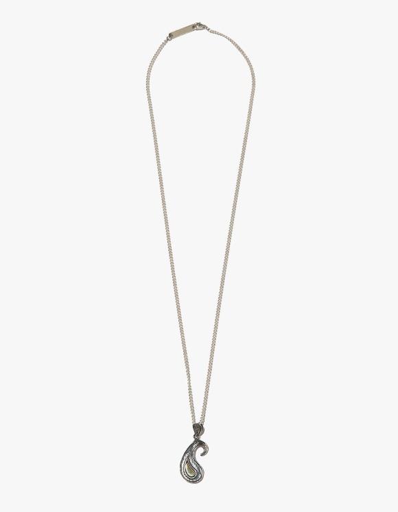 Kruchi lab Paisley Texture Necklace - Silver,Brass | HEIGHTS. | International Store