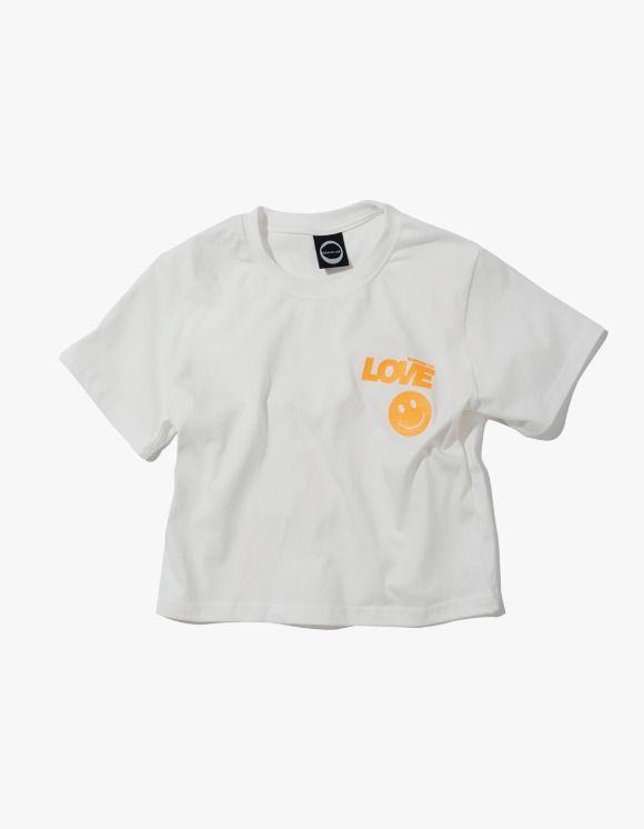 Kruchi lab Summer Of Love Crop Tee - White | HEIGHTS. | 하이츠 온라인 스토어