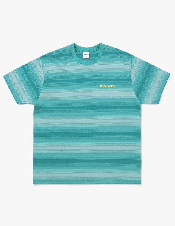 thisisneverthat Striped Tee - Green | HEIGHTS. | International Store