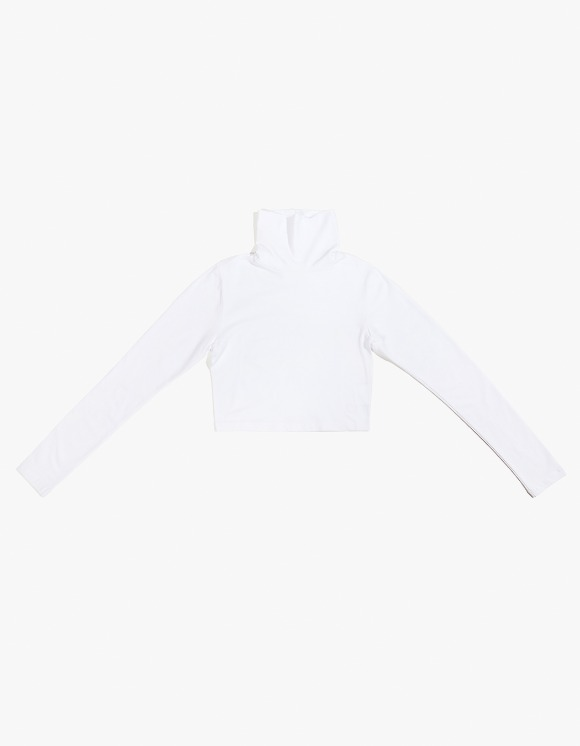 TheOpen Product Cropped Turtle Neck Tee - White | HEIGHTS. | International Store