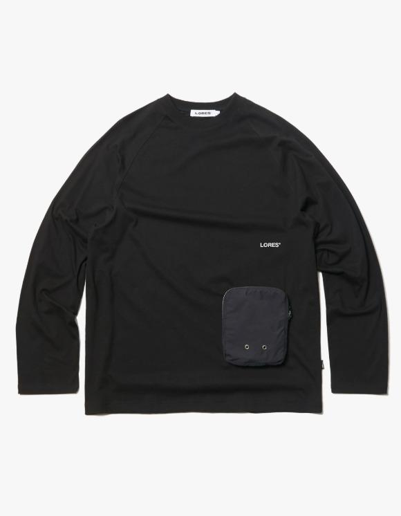 LORES Zip Pocket L/S Tee - Black   HEIGHTS.   하이츠 온라인 스토어