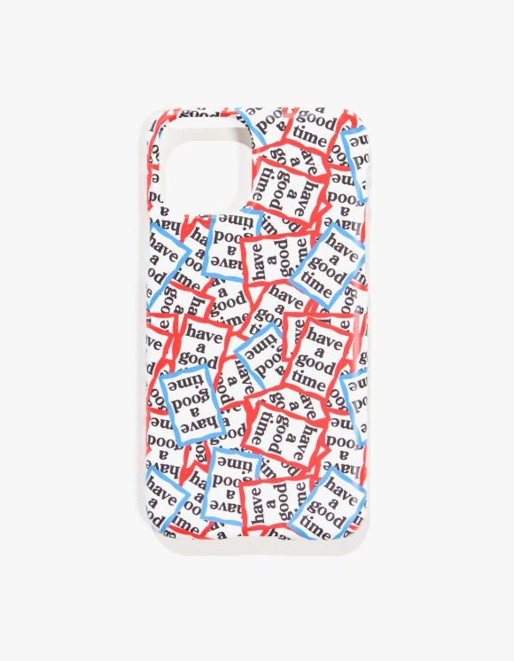 have a good time Red & Blue Frame Allover iPhone Case 11/11 Pro | HEIGHTS. | 하이츠 온라인 스토어
