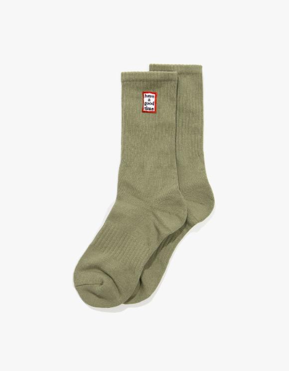 have a good time Frame Socks - Sage | HEIGHTS. | 하이츠 온라인 스토어