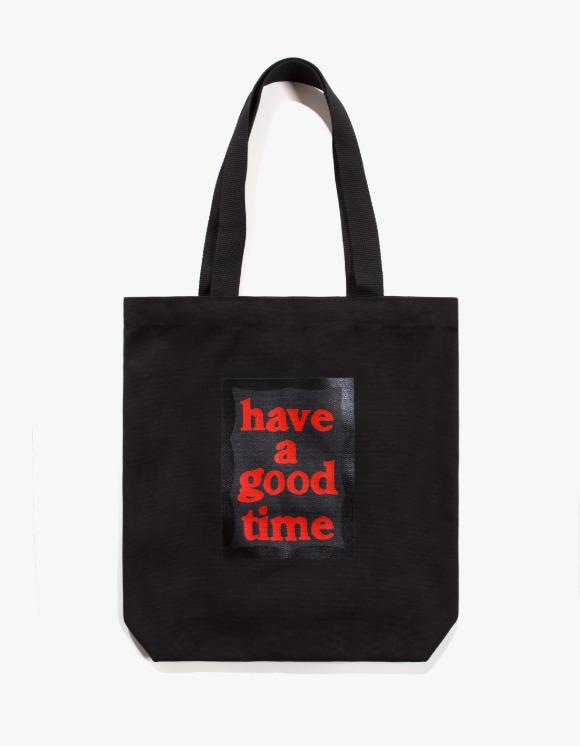 have a good time Black Frame Tote Bag - Black | HEIGHTS. | 하이츠 온라인 스토어