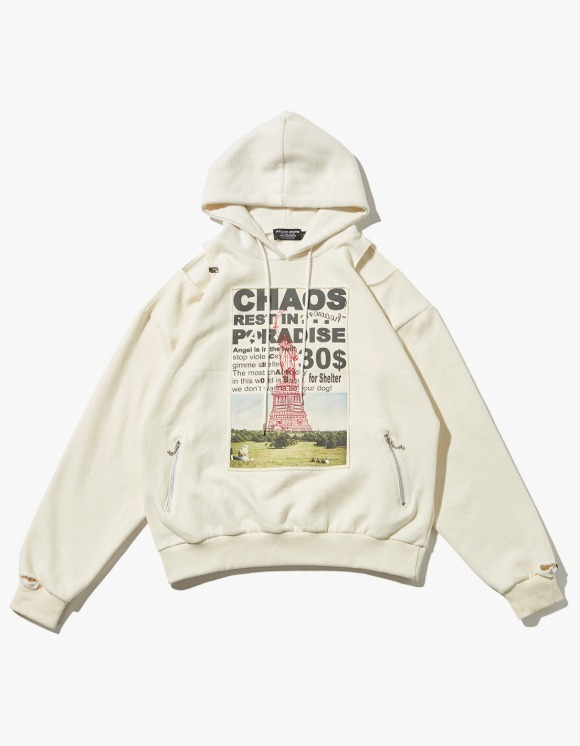 JOEGUSH Patched & Inside Out Hoodie - Ivory | HEIGHTS. | 하이츠 온라인 스토어