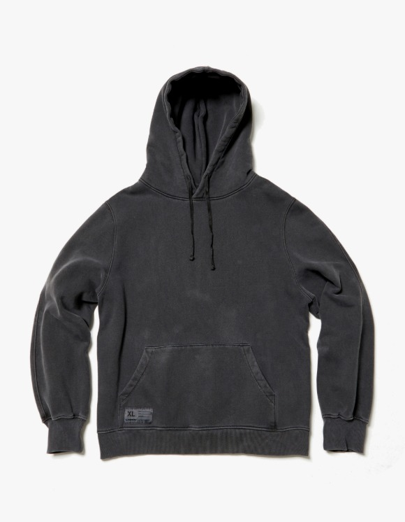 LORES Garment Dyed Pullover Hoodie - Charcoal   HEIGHTS.   하이츠 온라인 스토어