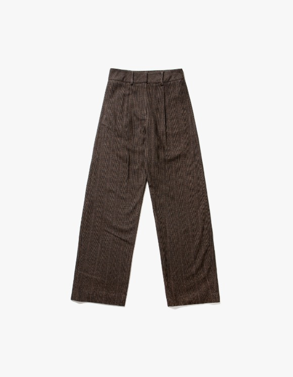 TheOpen Product Wool Check Rounding Pants - Brown | HEIGHTS. | International Store