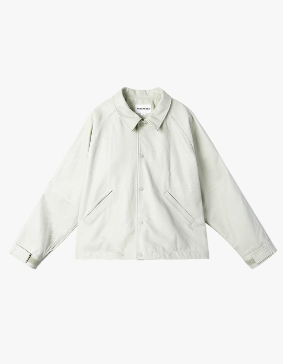 yeseyesee Y.E.S Leather Jacket - Ivory   HEIGHTS.   International Store