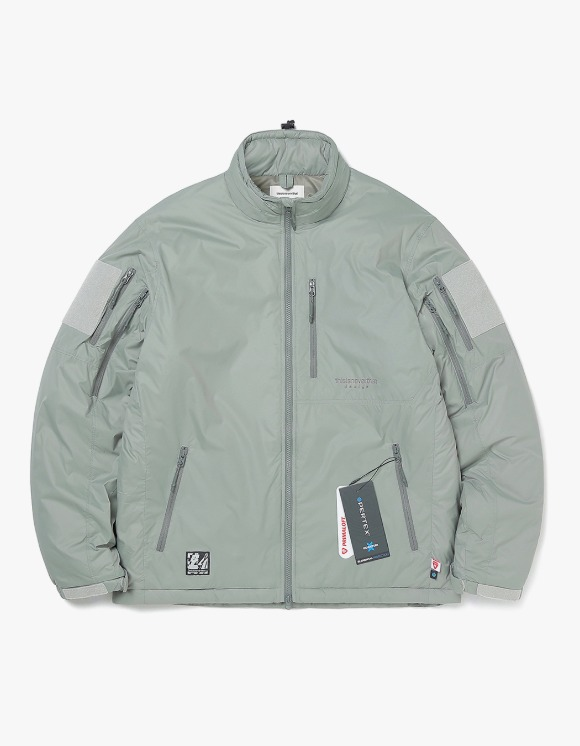 thisisneverthat Insulated PCU Jacket - Olive   HEIGHTS.   International Store