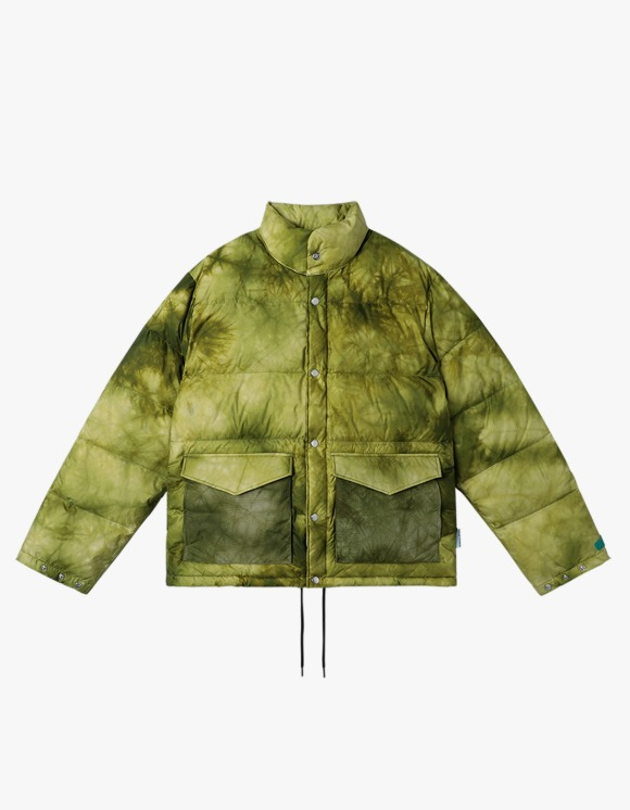 yeseyesee Y.E.S Dyed Down Jacket - Lime   HEIGHTS.   International Store