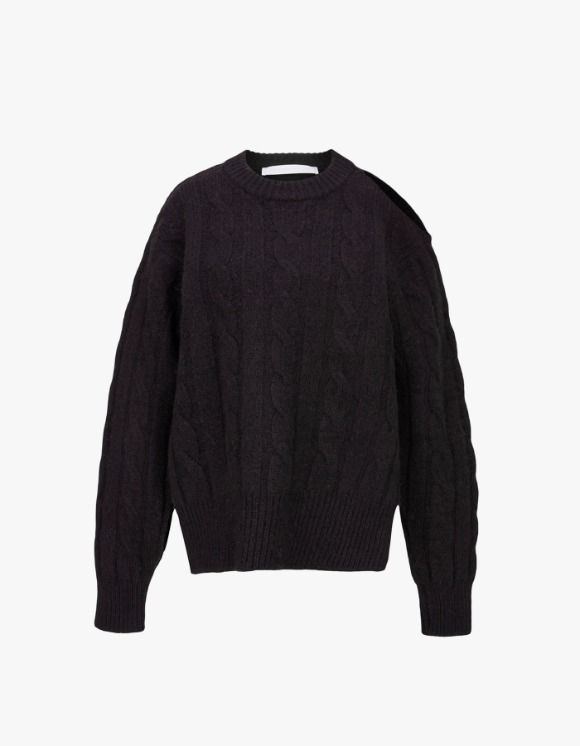 TheOpen Product Cable Knit Top - Dark Brown | HEIGHTS. | International Store