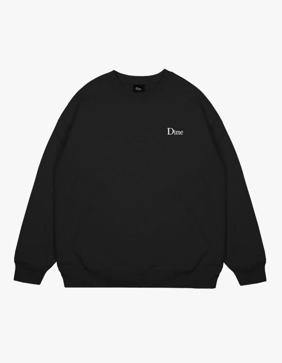 Dime Dime Classic Small Logo Crewneck - Black | HEIGHTS. | 하이츠 온라인 스토어