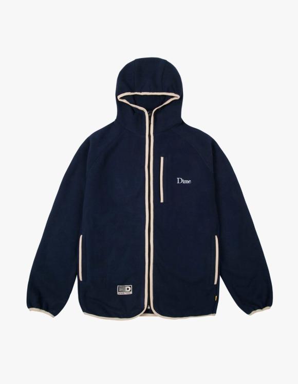 Dime Polar Fleece Hooded Jacket - Navy | HEIGHTS. | 하이츠 온라인 스토어