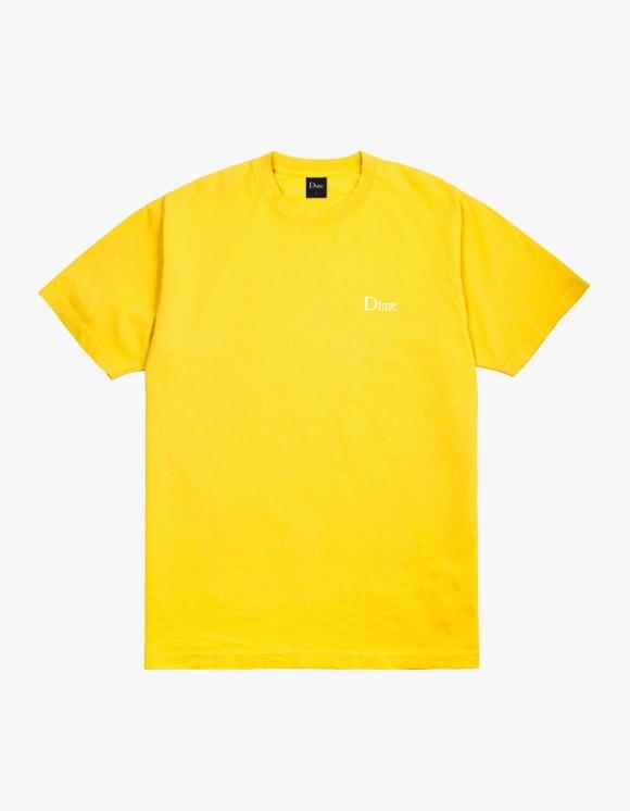 Dime Dime Classic Small Logo Tee - Yellow | HEIGHTS. | 하이츠 온라인 스토어