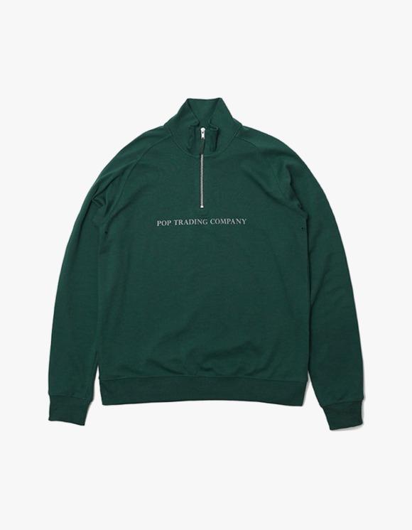 Pop Trading Company Pop Sportswear Company Light Weight Half Zip Sport - Green | HEIGHTS. | 하이츠 온라인 스토어