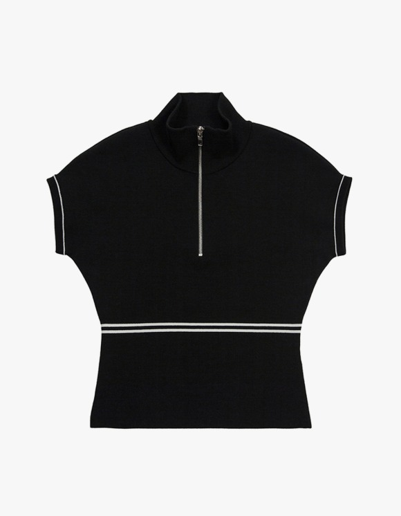 TheOpen Product Half Zip High Neck Knit Top - Black | HEIGHTS. | International Store
