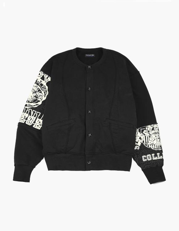 Cost Per Kilo Raw Edge College Cardigan - Black | HEIGHTS. | International Store