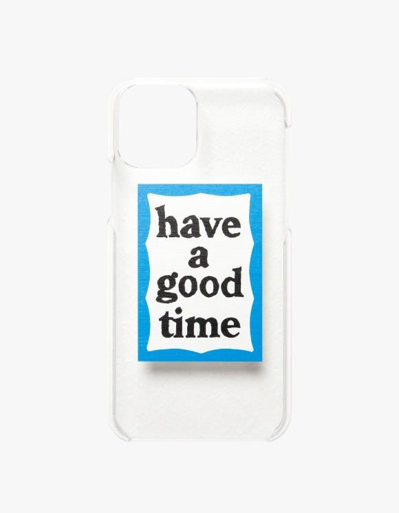 have a good time Blue Frame Iphone Case 12/12pro - Clear | HEIGHTS. | 하이츠 온라인 스토어