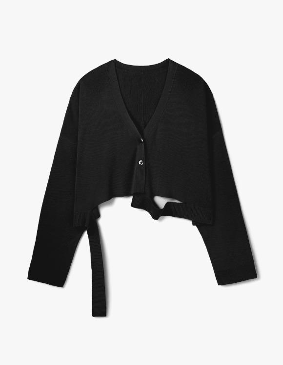 s/e/o Silk Yarn Cardigan - Black | HEIGHTS. | 하이츠 온라인 스토어
