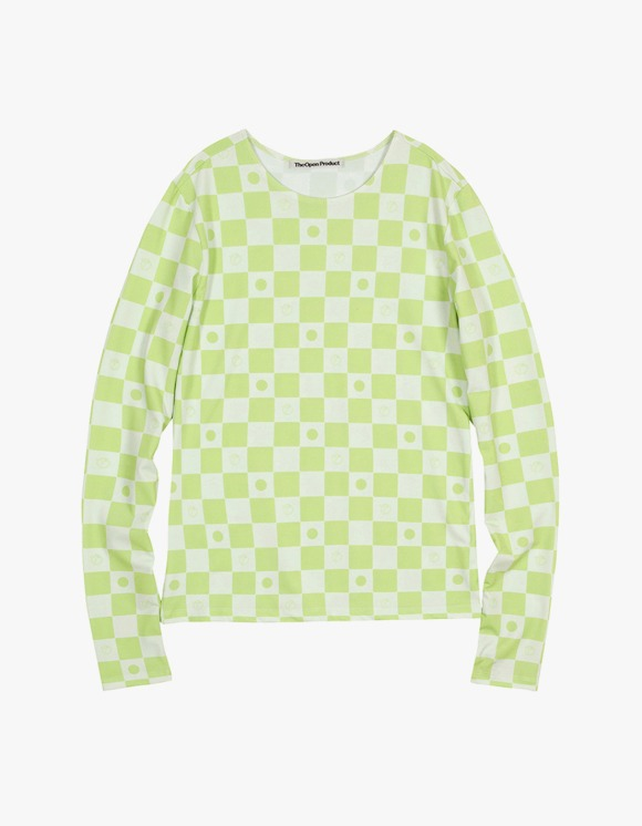TheOpen Product Symbol Pattern Stretch Long Tee - Green | HEIGHTS. | International Store