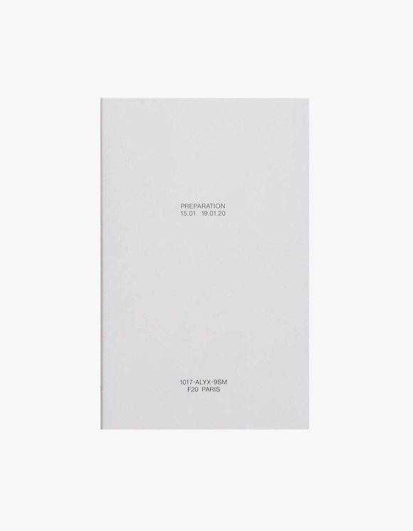 Selected Publications 1017-ALYX-9SM: Preparation F20 | HEIGHTS. | International Store