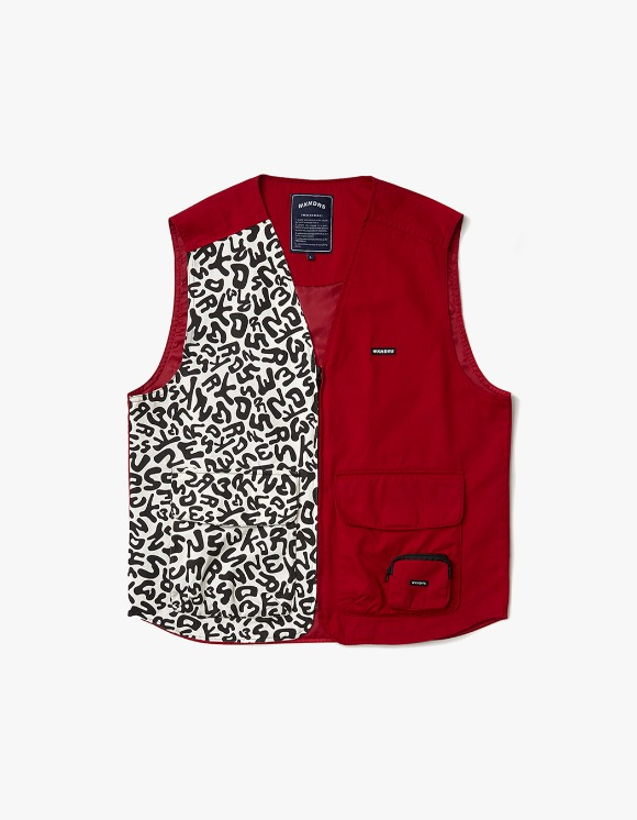 WKNDRS Drill Vest Zip up - Red | HEIGHTS. | International Store