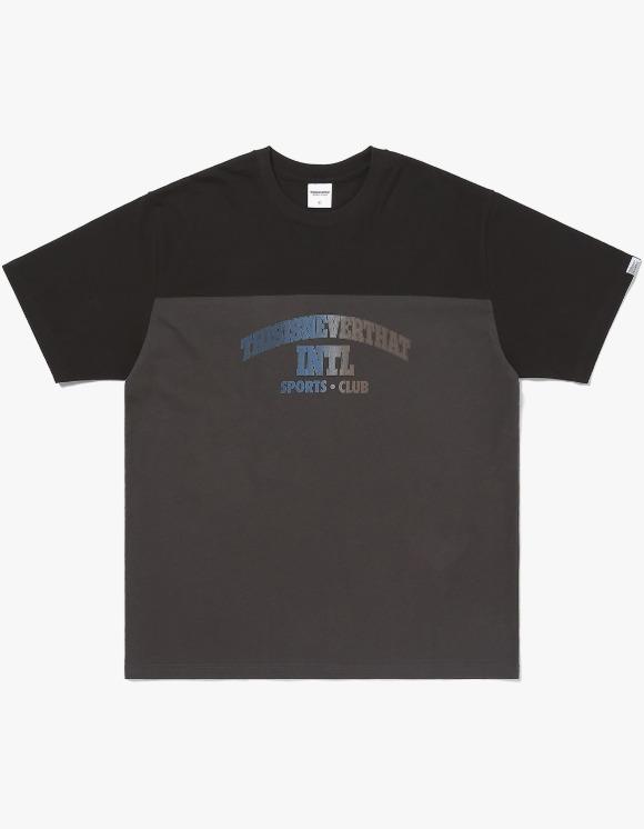 thisisneverthat Two Tone Block Tee - Black/Charcoal | HEIGHTS. | 하이츠 온라인 스토어