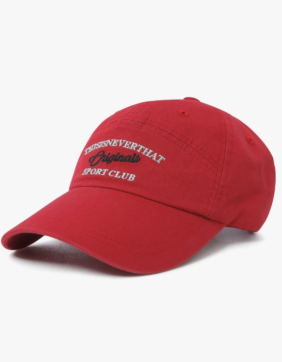 thisisneverthat Sport Club 7 Panel Cap - Red   HEIGHTS.   International Store