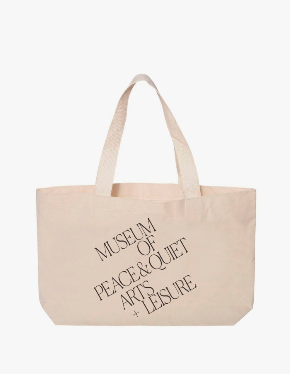 Museum Of Peace & Quiet Arts + Leisrue Tote Bag - Natural | HEIGHTS. | 하이츠 온라인 스토어