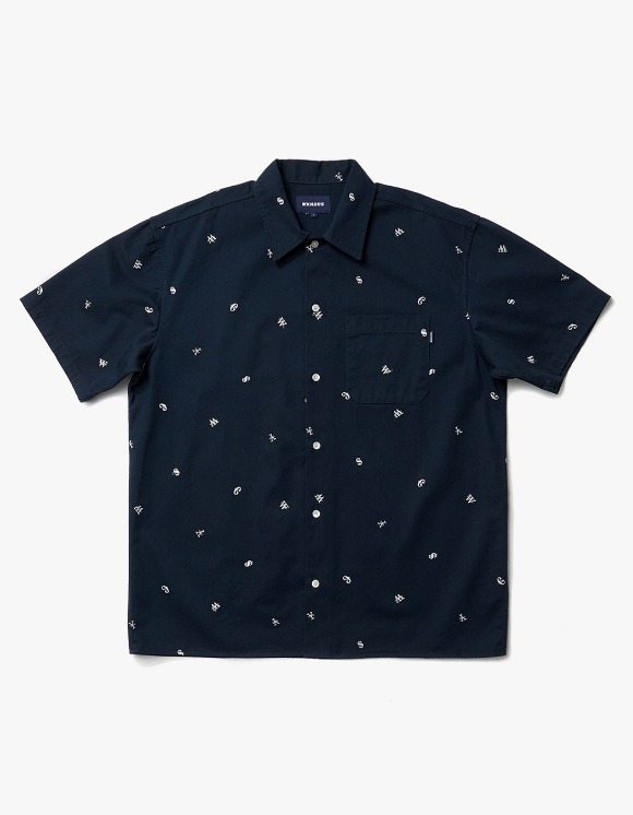 WKNDRS Currency Work S/S Shirt - Navy | HEIGHTS. | International Store