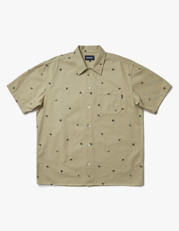 WKNDRS Currency Work S/S Shirt - Beige | HEIGHTS. | International Store