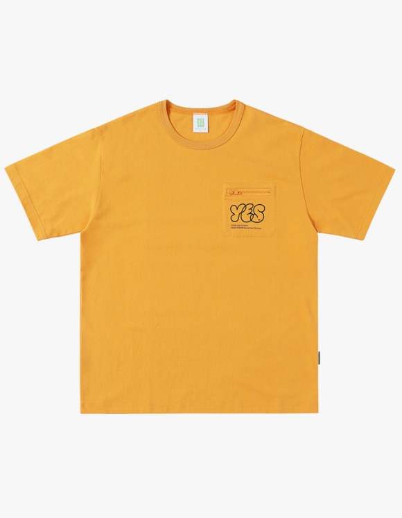 yeseyesee Y.E.S Pocket Tee - Yellow   HEIGHTS.   International Store