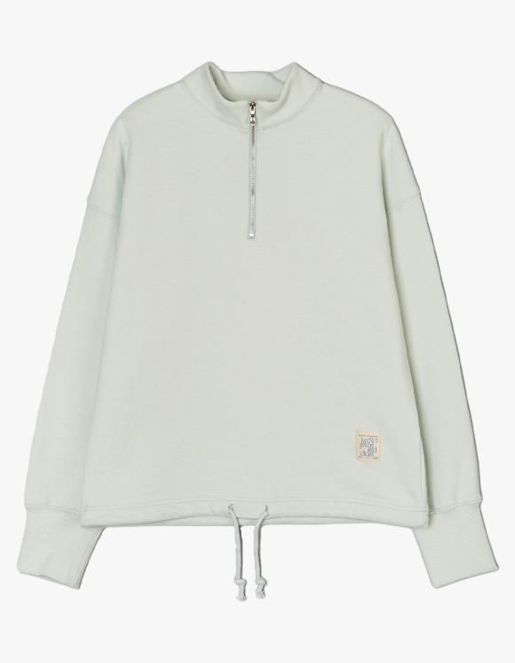 Enzo Blues Keep Green Half Zip Up Sweatshirt - Mint | HEIGHTS. | International Store