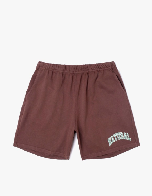 Museum Of Peace & Quiet Natural Gym Shorts - brown | HEIGHTS. | 하이츠 온라인 스토어