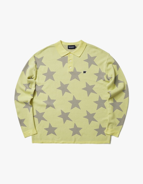 WKNDRS Knitted Star Polo Shirt - Yellow | HEIGHTS. | International Store