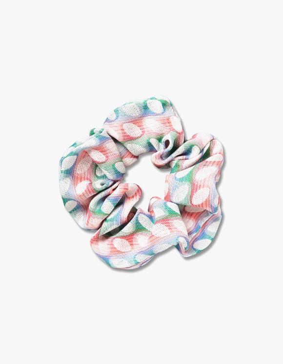 Enzo Blues Oval Dot Scrunchie - Pink/Green | HEIGHTS. | International Store